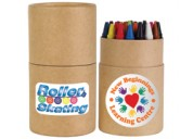 LL8905 Assorted Colour Crayons in Cardboard Tube